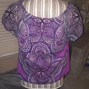 INC International Concepts Tops - Purple, jeweled INC top
